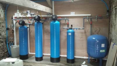 iron and manganese well water borehole filtration treatment system